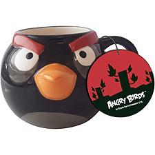 """Taza """"Angry Birds"""" Negra"""
