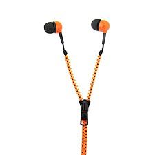 Auriculares Cremallera Naranja