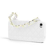 Funda iPhone 5 Bolso Acolchado Blanco