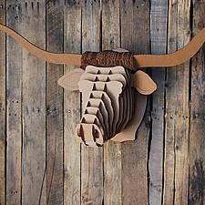 "Cabeza de Longhorn de Cartón Mediana ""Tex Jr."""