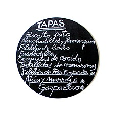 """Alfombrilla de Ratón """"100% Spanish"""" Pizarra de Tapas"""