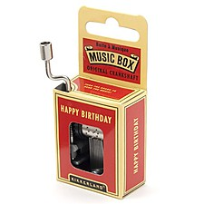 "Caja Musical  ""Happy Birthday"""