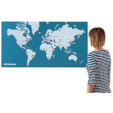 "Mapamundi de Fieltro ""Pin World"" Grande"