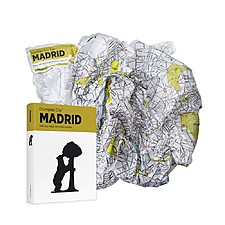Plano de Madrid Arrugado