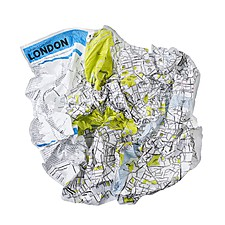 Plano de Londres Arrugado