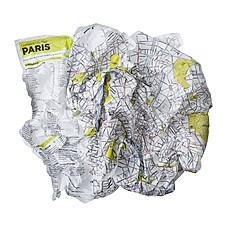 Plano de París Arrugado