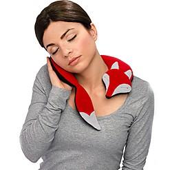Cojín de cuello para calentar con forma de zorro