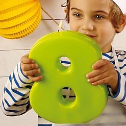 Velas Números Gigantes Verdes