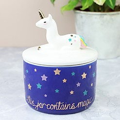 Bote con Tapa Unicornio This Jar Contains Magic
