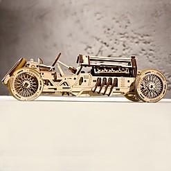 Kit para construir un coche mecánico retro de madera