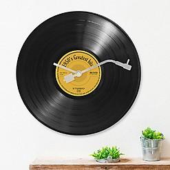 Reloj de pared con forma de disco de vinilo