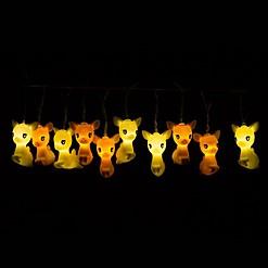 Guirnalda de luces con forma de cervatillos