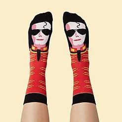 Calcetines originales con la cara de Michael Jackson