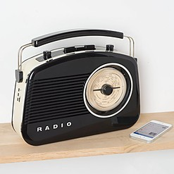 Radio y altavoz Bluetooth de estilo retro