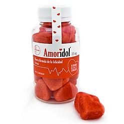 Amoridol: gominolas de fresa y nata con forma de corazón