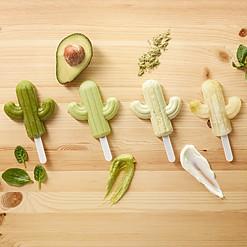 Moldes para hacer helados en forma de cactus