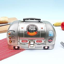 Fiambrera metálica con forma de food truck