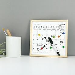 Pizarra con calendario planificador perpetuo en tamaño pequeño