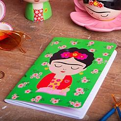 Cuaderno con estampado de Frida Kahlo