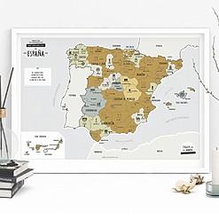 Mapa de España para rascar