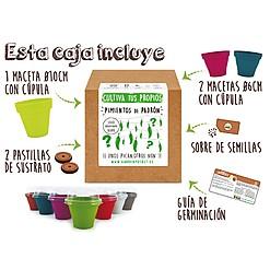 Kit para cultivar pimientos de Padrón