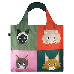 Bolsa reutilizable de tela con gatos de Stephen Cheetham estampados