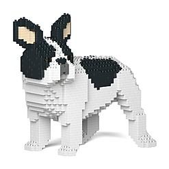 Juego para construir un bulldog francés con bloques