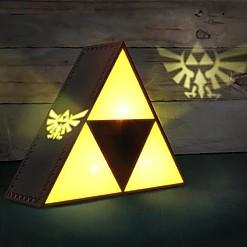 Lámpara con forma de la Trifuerza de The Legend of Zelda