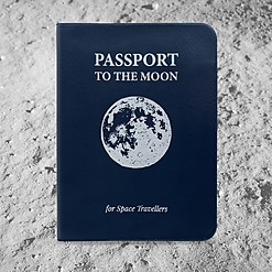 Funda para pasaporte a la Luna