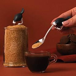 Cucharilla para el azúcar con forma de avestruz