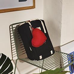 Mochila plegable en forma de corazón