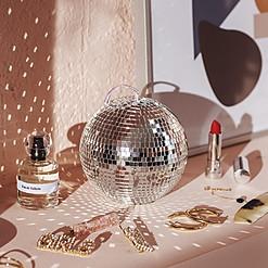 Joyero con forma de bola de discoteca