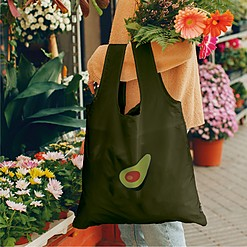 Bolsa reutilizable y plegable con aguacate
