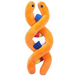 Peluche original con forma de molécula de ADN