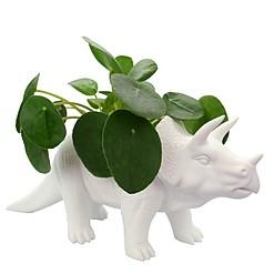 Maceta original con forma de triceratops