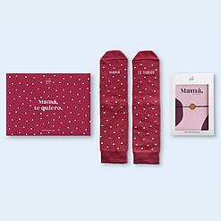 Kit de calcetines con mensaje y pulsera para mamá