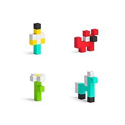 PIXIO 50: el juego de bloques de construcción magnéticos