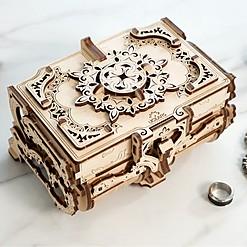 Kit para montar un joyero de madera de estilo antiguo