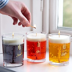 Velas con forma de vaso de cerveza