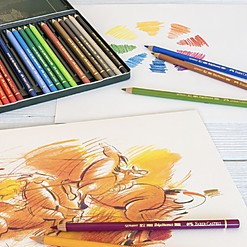 Estuche de metal Polychromos con 60 lápices de color de FABER-CASTELL