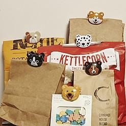 Pinzas para bolsas con forma de gatos o perros