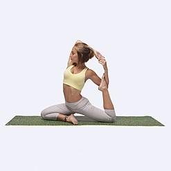 Esterilla para yoga con estampado de césped