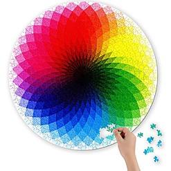 Puzzle circular del arcoíris en degradado