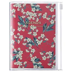 Agenda 2021 de diseño floral japonés en tamaño A5