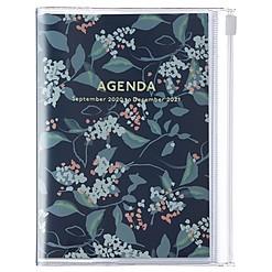 Agenda 2021 de diseño floral japonés en tamaño A6