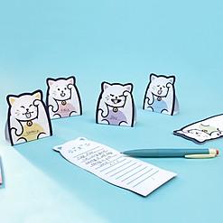 Bloc de notas con forma de gato de la suerte