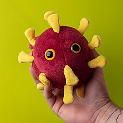 Peluche original con forma de coronavirus