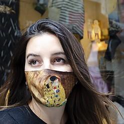 Mascarilla de protección El beso de Gustav Klimt