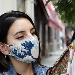 Mascarilla de protección La gran ola de Hokusai