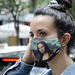 Mascarilla de protección Mona Lisa de Leonardo da Vinci